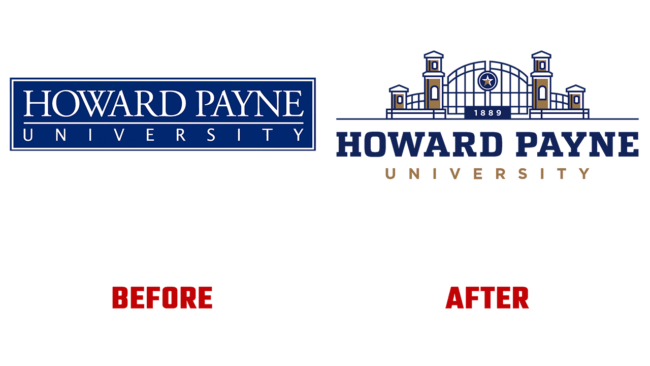 Howard Payne University Prima e Dopo Logo (storia)