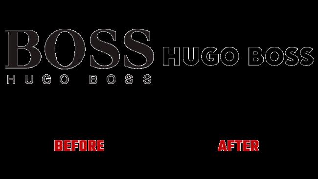 Hugo Boss Prima e Dopo Logo (storia)