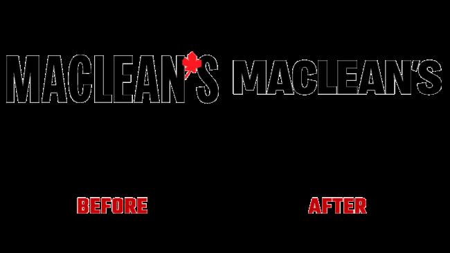 Maclean's Prima e Dopo Logo (storia)