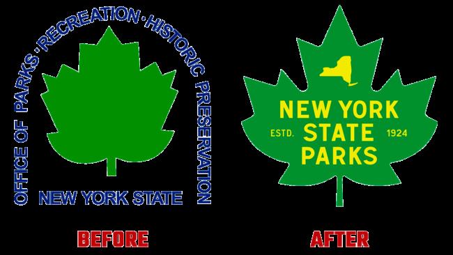 NY State Parks Prima e Dopo Logo (storia)