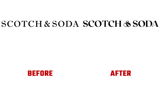 Scotch & Soda Prima e Dopo Logo (storia)