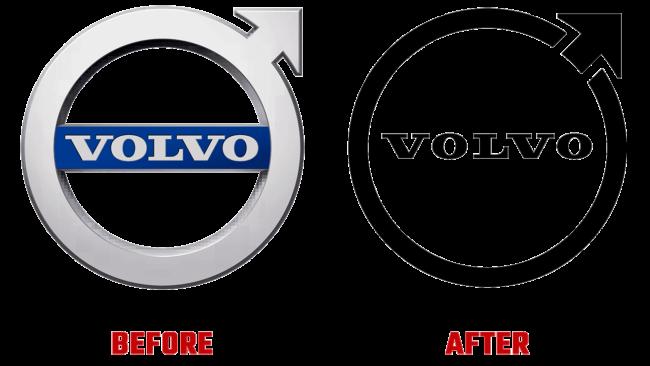 Volvo Prima e Dopo Logo (storia)