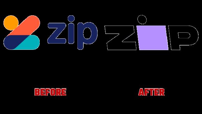 Zip Prima e Dopo Logo (storia)