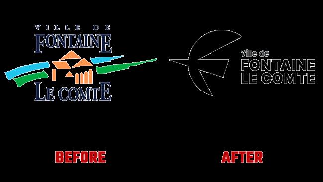 Fontaine le Comte Prima e Dopo Logo (storia)