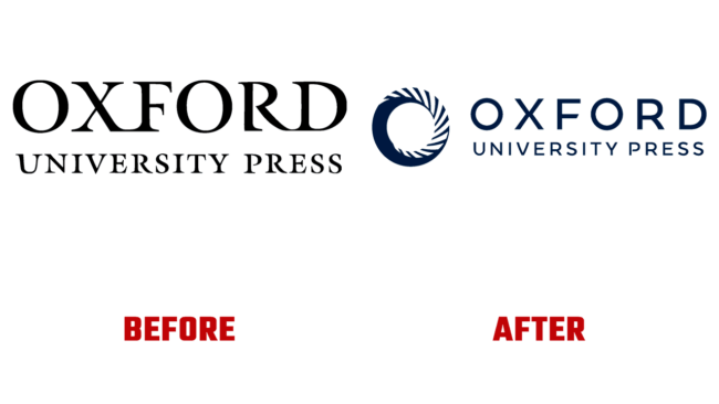Oxford University Press Prima e Dopo Logo (storia)