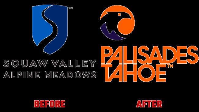 Palisades Tahoe Prima e Dopo Logo (storia)