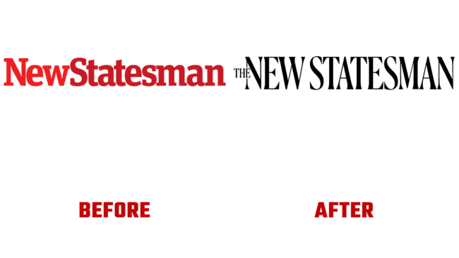 The New Statesman Prima e Dopo Logo (storia)