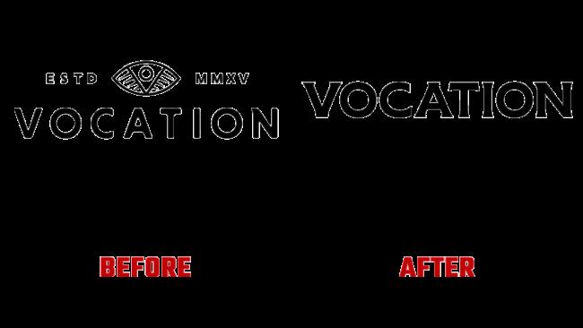 Vocation Prima e Dopo Logo (storia)